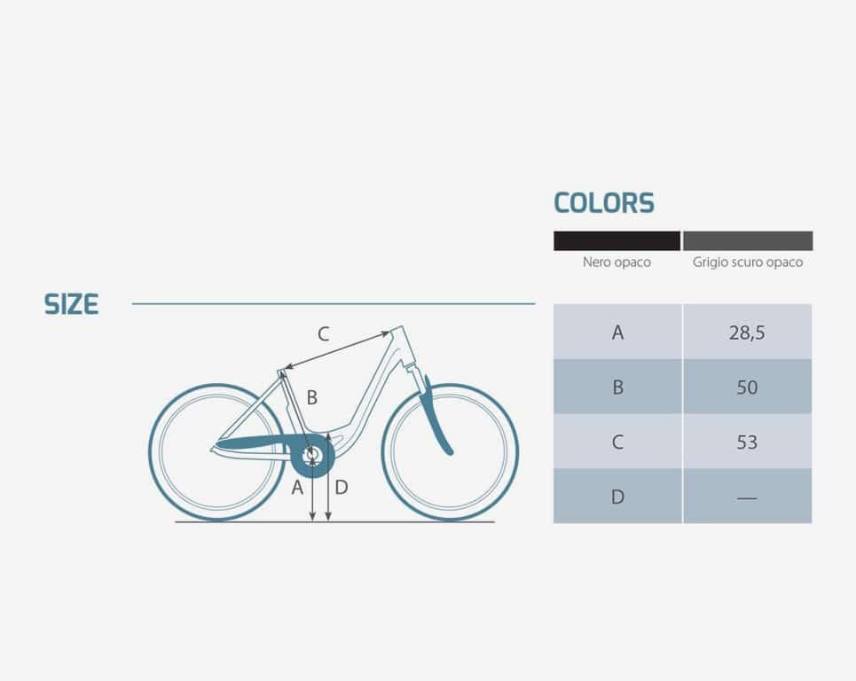 Bici Elettrica Perses Man - Dati-Tecnici