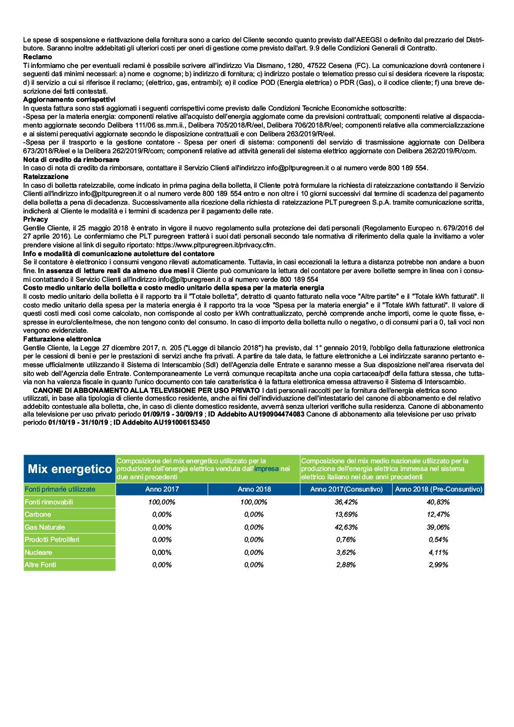 Sezione Informativa - Bolletta Energia Elettrica